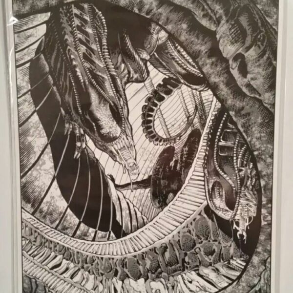 Vintage Aliens Print by Dark Horse Aliens artist Mark A. Nelson, 1989. 2