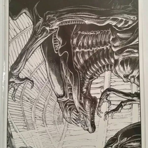 Aliens Queen Print by Dark Horse artist Mark A. Nelson 1989