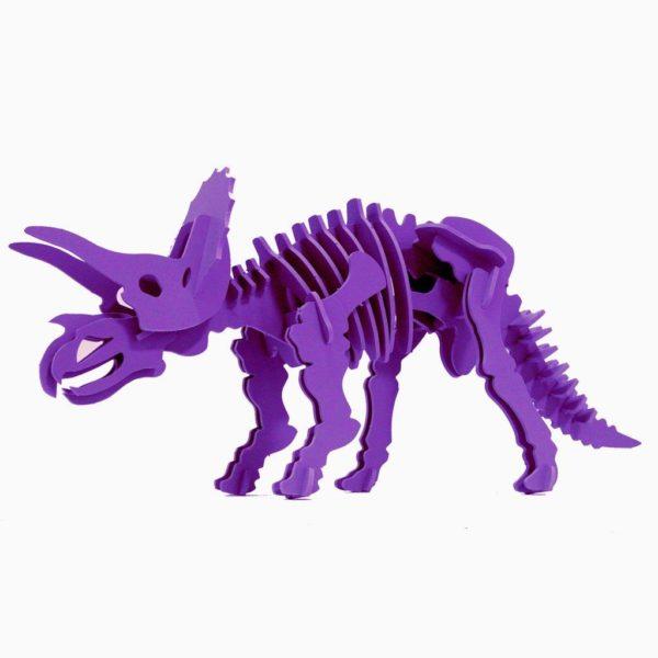 Boneyard Pets Triceratops – Purple