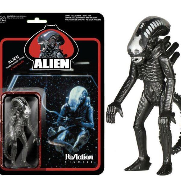 Metallic Flesh Alien ReAction Figure, Xenomorph – Awesome retro-style figure