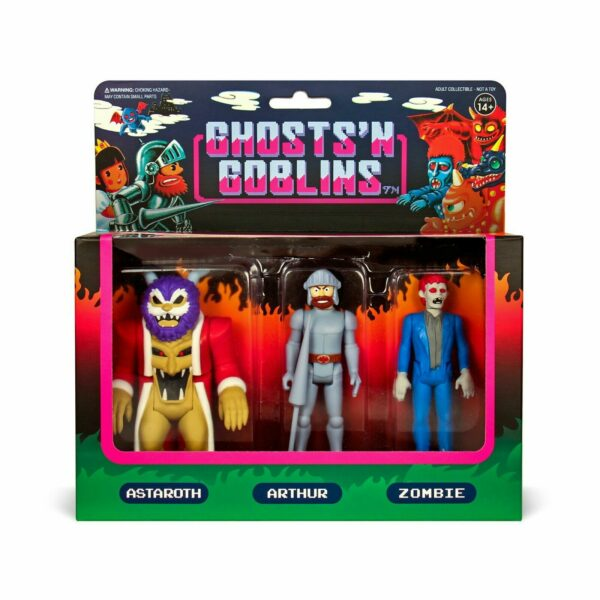 Ghosts N Goblins Version A ReAction Figure 3 Pack… One of the most difficult CAPCOM games!!