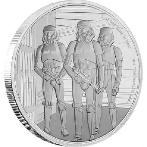 Star Wars Classic Stormtrooper 1oz Silver Coin / Bullion — Absolutely stunning.