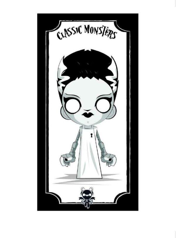Bride of Frankenstein Giclee by Juan Rubi