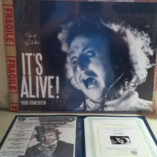 Gene Wilder Autograph on a Young Frankenstein Poster with PSA/DNA Certificate of Authenticity