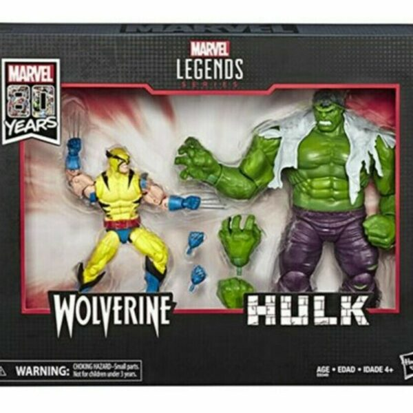 Wolverine and Hulk Marvel Legends 80th Anniversary 6″ Action Figures Damaged box