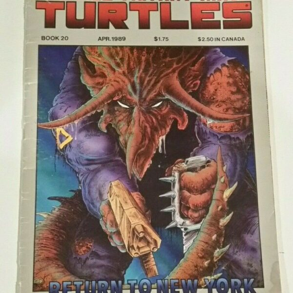 Teenage Mutant Ninja Turtles 20, part of the dramatic first TMNT comic series from Eastman and Laird