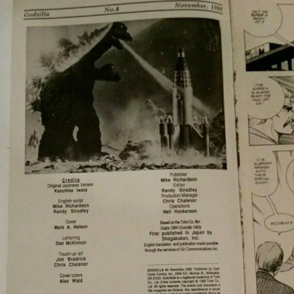 Godzilla 4 1988 Dark Horse Comics Limited Series