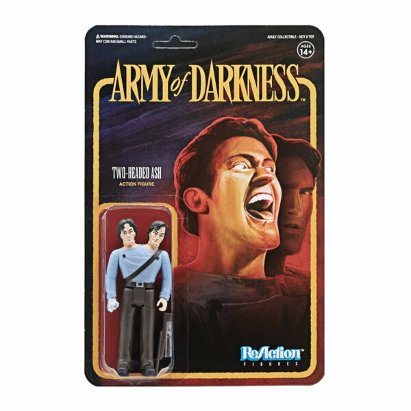 Two Headed Ash .. Army of Darkness ReAction Figure .. The horrifying alter ego!