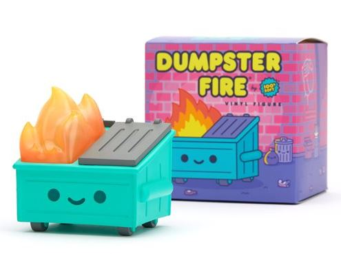 Lil Dumpster Fire Soft Vinyl Figure.. Ignite your sofubi collection!