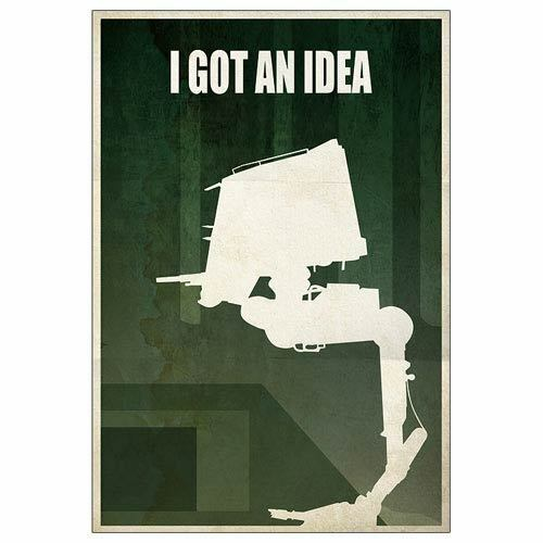 I Got an Idea Giclee, Star Wars AT-ST Walker, Limited Edition Art Print (52/235)
