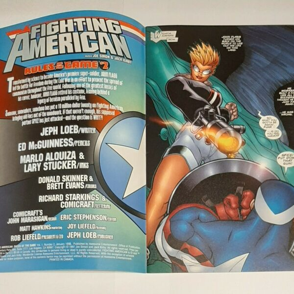Fighting American 2: Rules of the Game, Awesome Comics, Jan 1998