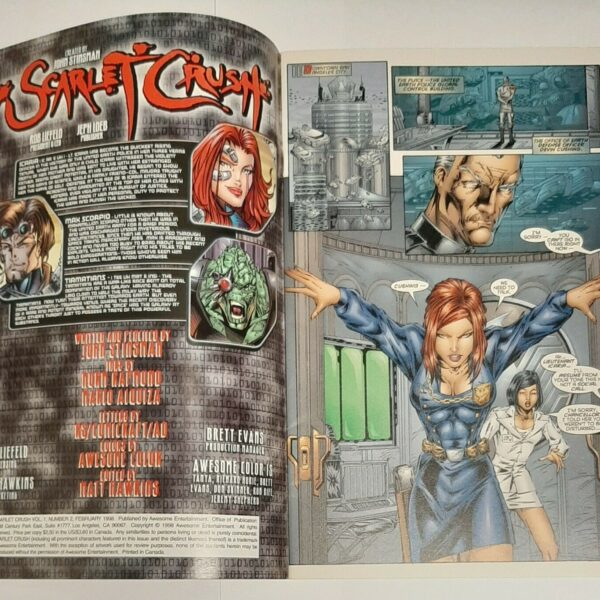 Scarlet Crush 2, Cover C, Awesome Comics, Jan 1998