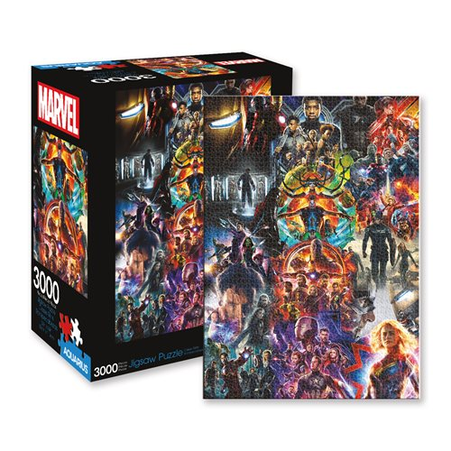 Marvel Avengers Collage Puzzle, Challenge yourself with 3,000-Pieces of Avengers awesomeness